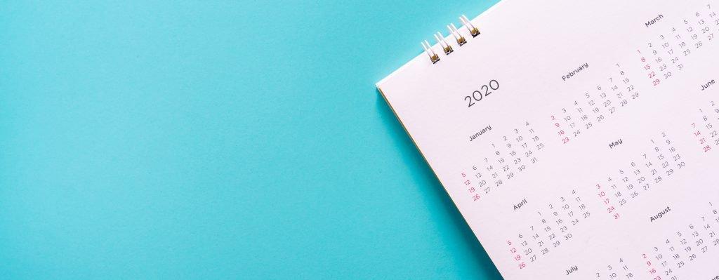 Turquoise Desk Calendar