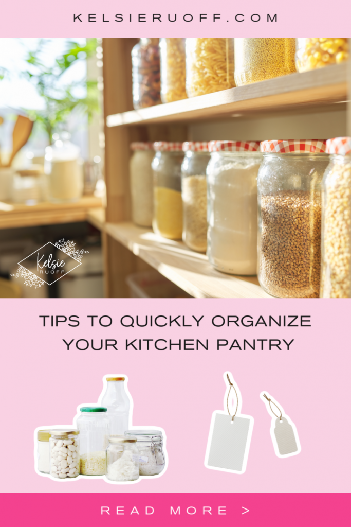 Tips to Quickly Organize Your Pantry Pin