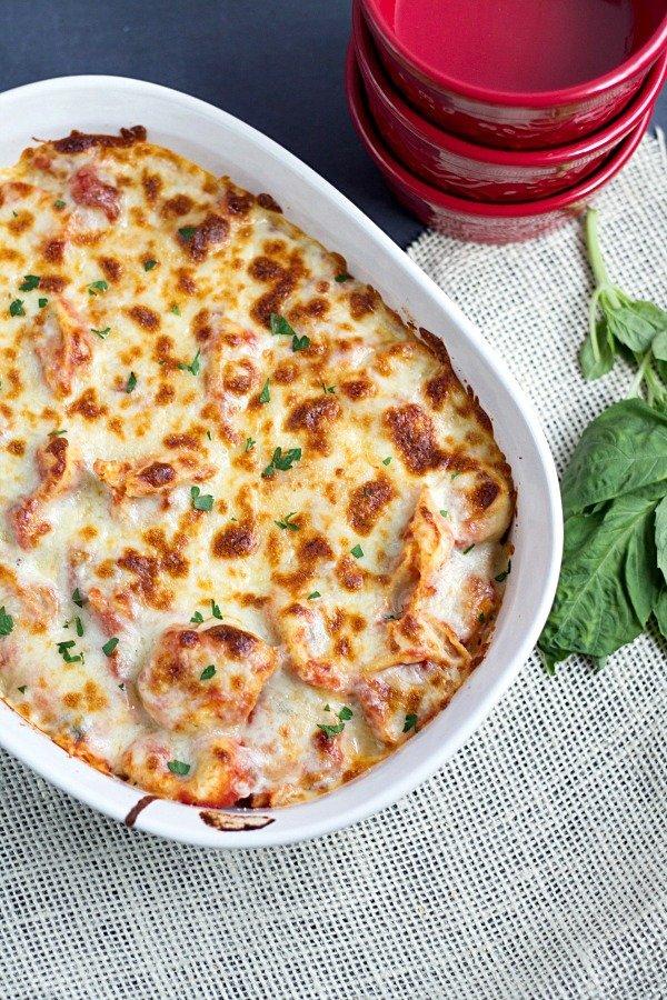 20 Minute Easy Tortellini Bake