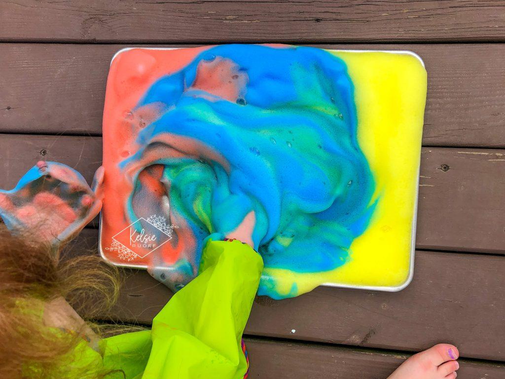 DIY Rainbow Foam