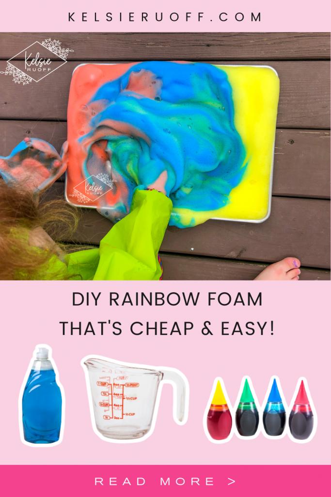 DIY Rainbow Foam Pin