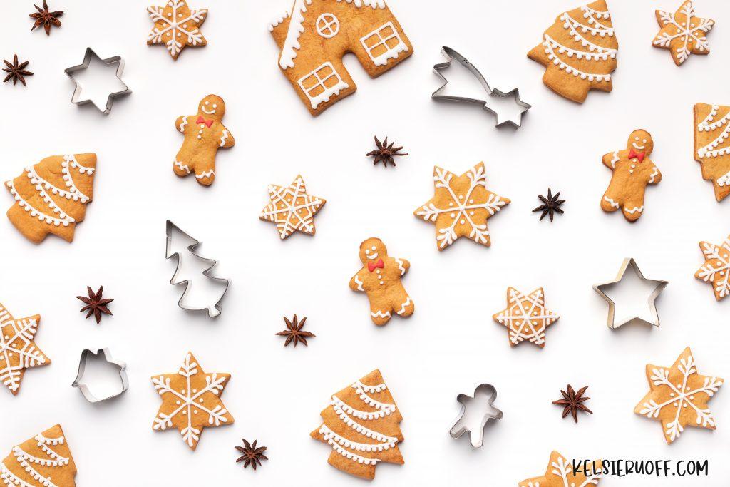 Christmas Cookies Flat Lay