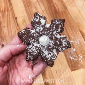 Hot Chocolate Marshmallow Linzer Cookies