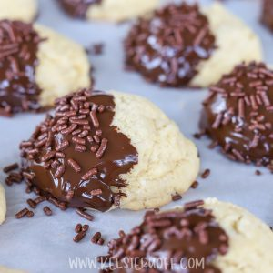 Chocolate Dipped Italian Butter Cookies