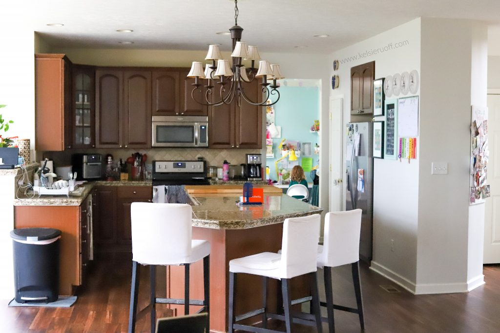 Family Command Center in Kitchen