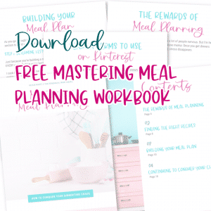 Mastering Meal Planning Workbook Button