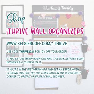 1Thrive Wall Organizers